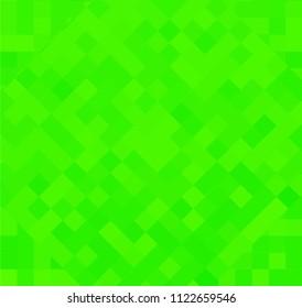 Green Abstrat Pixel Background. Rhombus.