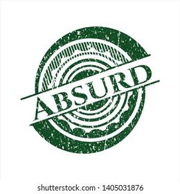 Green Absurd distress grunge seal