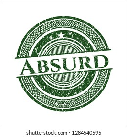 Green Absurd distressed grunge style stamp