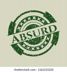 Green Absurd distressed rubber grunge texture seal