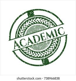 Green Academic grunge style stamp