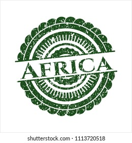 Green Africa rubber grunge seal