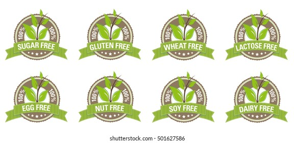Green Allergy Labels