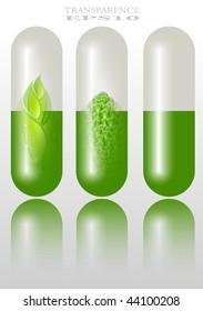 Green alternative medication concept - vector illustration