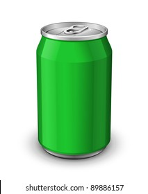 Green Aluminum Can: Vector Version