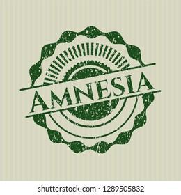 Green Amnesia distressed rubber grunge stamp