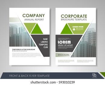 green annual report brochure flyer design stock vector royalty free