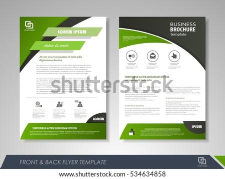 green annual report brochure flyer design のベクター画像素材