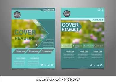 Green annual report Leaflet Brochure Flyer template design, book cover layout design, Abstract green presentation book cover templates vector.