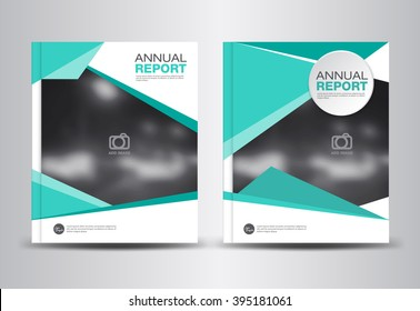 Green Annual report template, polygon background, brochure flyer, cover design, portfolio, Leaflet, presentation ,book, booklet, catalogs,magazine ads