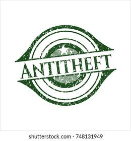 Green Antitheft distress rubber grunge texture seal