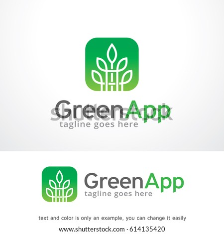 green app logo template stock vector royalty free 614135420