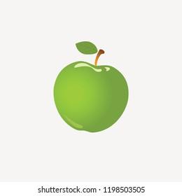 Green apple icon.