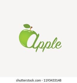 Green apple logotype