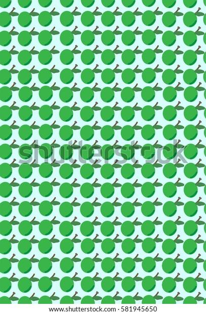 Green apples pattern