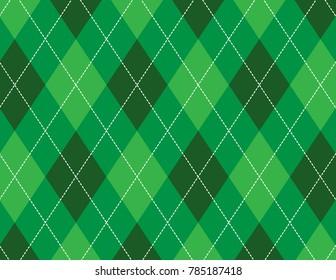 Green Argyle Background