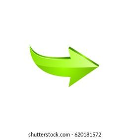 Green arrow. Vector