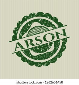 Green Arson distressed rubber grunge seal