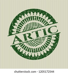 Green Artic distressed rubber stamp