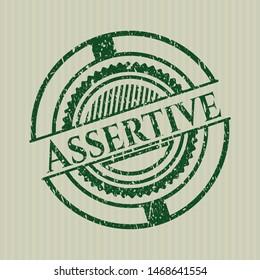 Green Assertive rubber grunge stamp