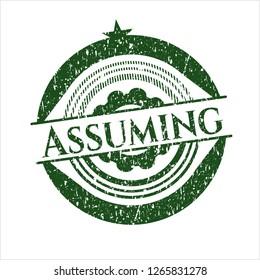 Green Assuming distress grunge stamp