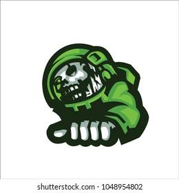 Green Astronot E Sport Logo