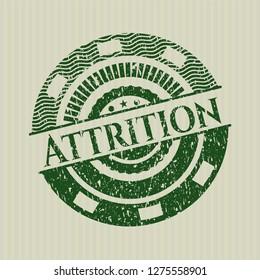 Green Attrition distress rubber grunge texture seal
