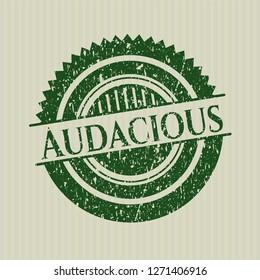 Green Audacious grunge stamp