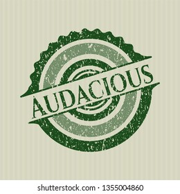 Green Audacious rubber stamp