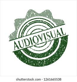 Green Audiovisual distress rubber grunge texture stamp