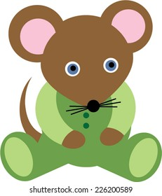 Green Baby Mouse Cartoon