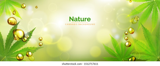 green background. Cannabis marijuana in medical. Concepts of using marihuna for medicinal purposes for, Medical use of non-psychoactive cannabidiol CBD medical.