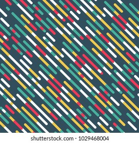 Green background with diagonal colored lines
