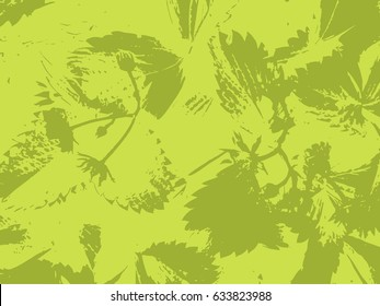Green background grass organic vector texture. Illustration.