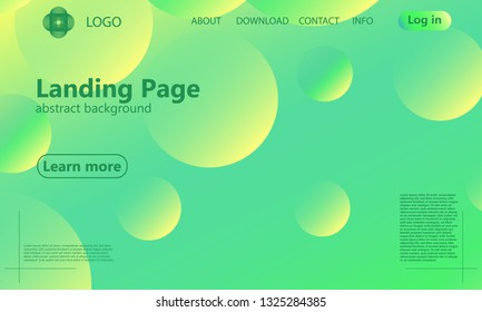Green background. Website landing page. Minimal abstract cover design. Creative colorful wallpaper. Trendy gradient poster. Vector illustration.
