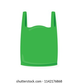 green bag on white background for illustration (vector)