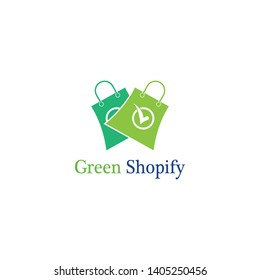 Green bag online shop logo design