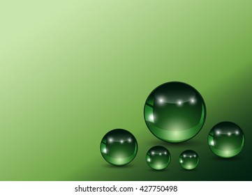 green balls on a green background