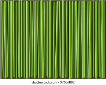 green bamboo background illustration