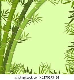 A green bamboo border illustration