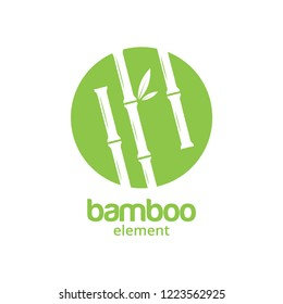 Green bamboo graphic design template vector illustration