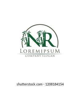 Green Bamboo NR Letter Logo