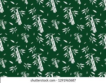 Green Bamboo Pattern, Nature seamless design