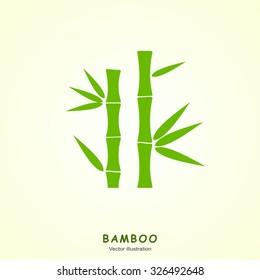 Green bamboo vector symbol icon. Vector Illustration