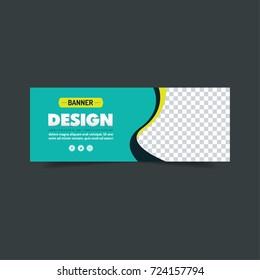 Green Banner Design. Abstract poster. Facebook cover