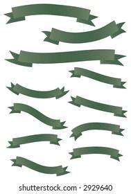 Green Banner Set