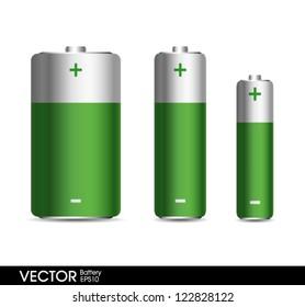 Green Battery set