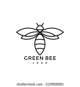 green bee logo icon graphic symbol nature