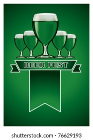 green beer poster with banner