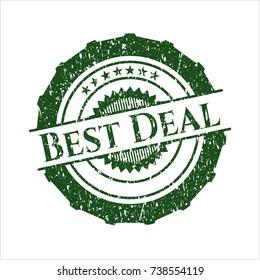 Green Best Deal rubber stamp